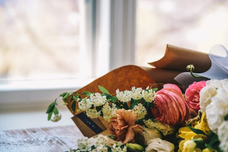 a bouquet of flowers for a funeral